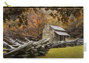 Oliver's Log Cabin During Fall In The Great Smoky Mountains Carry-all Pouch