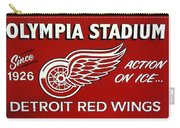 Olympia Stadium - Detroit Red Wings Sign Carry-all Pouch