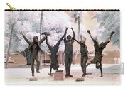 Olympic Wannabes Sculpture By Glenna Goodacre Near Infrared Carry-all Pouch