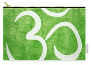 Om Green Carry-all Pouch by Linda Woods