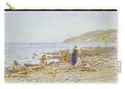On The Beach Carry-all Pouch by Helen Allingham