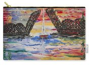 On The Hour. The Sailboat And The Steel Bridge Carry-all Pouch