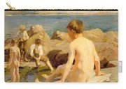 On The Rocks Near Newlyn Carry-all Pouch by Harold Harvey
