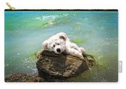 On The Rocks - Teddy Bear Art By William Patrick And Sharon Cummings Carry-all Pouch
