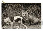 On The Scent Sepia Carry-all Pouch by Steve Harrington