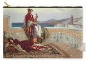 On The Terrace Tangiers Carry-all Pouch by Rudolphe Ernst