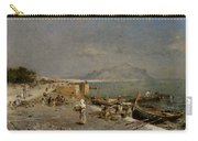 On The Waterfront At Palermo Carry-all Pouch by Franz Richard Unterberger