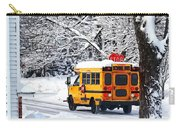 On The Way To School In Winter Carry-all Pouch