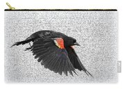 On The Wing - Red-winged Blackbird Carry-all Pouch