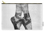 On Tippie Toes In Black And White Carry-all Pouch by Nikki Marie Smith