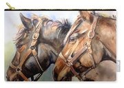 Horse In Watercolor On Watch Carry-all Pouch