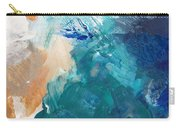On A Summer Breeze- Contemporary Abstract Art Carry-all Pouch by Linda Woods
