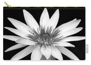 One Black And White Water Lily Carry-all Pouch