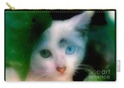 One Blue One Green Cat In New Olreans Carry-all Pouch