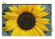 One Bright Sunflower - Digital Art Carry-all Pouch