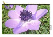 One Delicate Pale Lilac Anemone Coronaria Wild Flower Carry-all Pouch