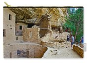 One End Of Spruce Tree House On Chapin Mesa In Mesa Verde National Park-colorado Carry-all Pouch