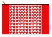 One Hundred Hearts Carry-all Pouch