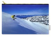 One Man Skiing In Powder High Carry-all Pouch