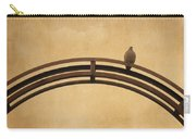 One Pigeon Perched On A Metallic Arch. Carry-all Pouch