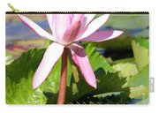 One Pink Water Lily Carry-all Pouch