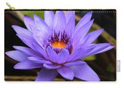 One Purple Water Lily Carry-all Pouch by Carol Groenen