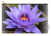 One Purple Water Lily With Vignette Carry-all Pouch
