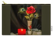 One Red Christmas Rose Carry-all Pouch