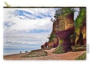 One Side Of Flowerpots At Hopewell Rocks-new Brunswick  Carry-all Pouch