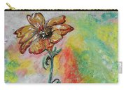 One Solitary Flower Carry-all Pouch by Eloise Schneider