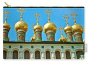 Onion Domes On Churches Of The Nativity And Deposition Of The Robe Inside Kreml Carry-all Pouch