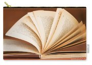 Open Book In Retro Style Carry-all Pouch