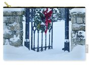 Open Gate In Snow With Wreath Carry-all Pouch