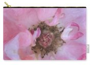Open Pink Rose Carry-all Pouch