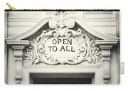Open To All Carry-all Pouch by Lisa Russo