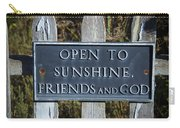 Open To Sunshine Sign Carry-all Pouch