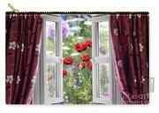 Open Window View Onto Wild Flower Garden Carry-all Pouch