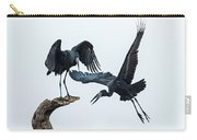 Openbill Storks Flying, Tarangire Carry-all Pouch