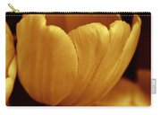 Opening Tulip Flower Golden Monochrome Carry-all Pouch