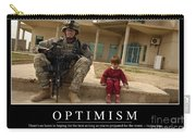 Optimism Inspirational Quote Carry-all Pouch by Stocktrek Images