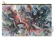 Orang Elblue Black Grey Abstract Landscape Art Carry-all Pouch