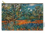 Orange And Blue Flower Field Carry-all Pouch