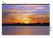 Orange And Blue Sunset Carry-all Pouch