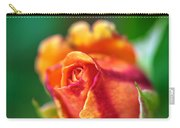 Orange And Fuschia Rosebud Carry-all Pouch