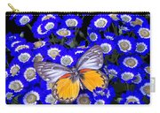 Orange And Gray Butterfly Carry-all Pouch