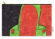 Orange And Green Carry-all Pouch