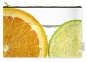 Orange And Lime Slices In Water Carry-all Pouch