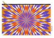 Orange And Purple Kaleidoscope Carry-all Pouch