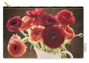 Orange And Red Ranunculus Flowers Carry-all Pouch