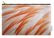 Orange And White Feathers Of A Flamingo Carry-all Pouch